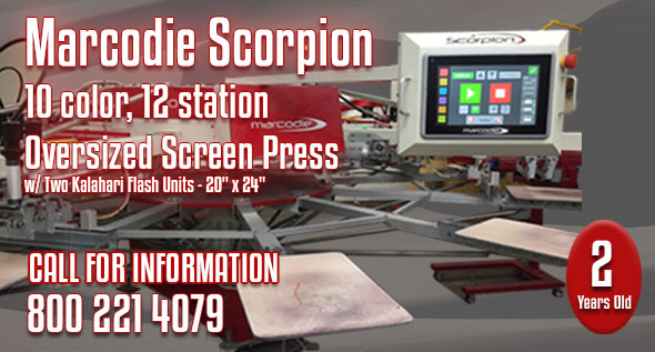 Marcodie Scorpion 10 Color, 12 Station Oversized Press
