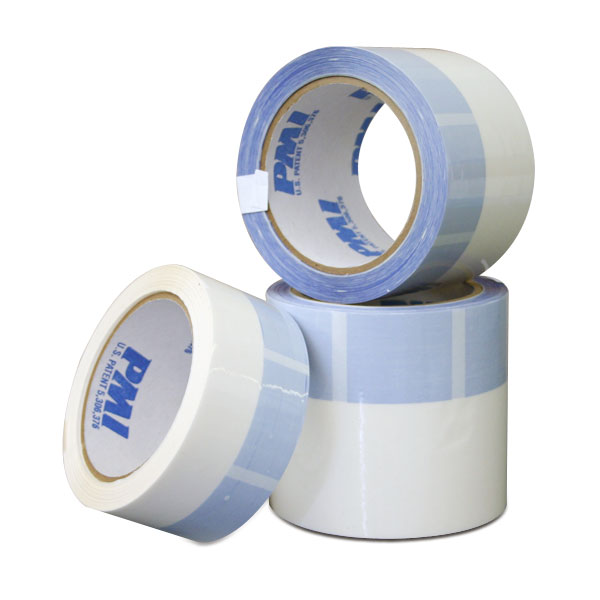 The patented PMI Split Tape is used by screen printers all over the world. It is used to mask out the inside of a screen print frame. The blue areas on the tape contain no adhesive to keep your frames clean and free of adhesive residue. The tape is easy to remove without breaking, tearing or shredding. It eliminates the need for costly labor and solvents to clean frames. <br /><br /> <span style=color:red>Click &quot;Read More&quot; below to see tape comparison chart.</span>