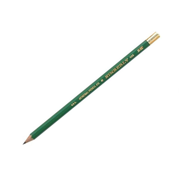 <p>A drawing pencil is a black lead pencil. What makes a drawing pencil special, is that it is made in a wide variety  of degrees, or hardnesses. These degrees are also carefully  controlled to insure accurate steps between degrees, and uniformity from batch to batch. Most manufacturers also use special combinations of clay and graphite not available in their general use pencils.<br><br> The Kimberly&reg; features extra dense, non-porous leads that result in extra long, durable points. They are then &#34;carbo-welded&#34; to the wood. Points withstand four times normal pressure and produce lines of high opacity. Finished in lustrous green and gold leaf stamped. Available  from 8B through 7H plus HB & F. 12 per box.</p>