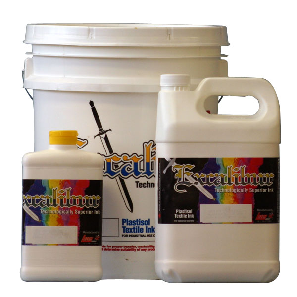 501 Curable Reducer is a perfectly balanced reducer that can  be used in virtually any quantity. It will not affect the cure ability of the ink. It is ideal for general viscosity reduction. It can be used to achieve a softer hand. It is recommended to be used in most direct printing plastisol inks including: Excalibur 500/550 and 600 Series Plastisol Inks. Please Note: The print opacity may be reduced with the addition of 501 Reducer.