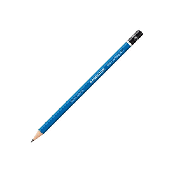 <p>A drawing pencil is a black lead pencil. What makes a drawing pencil special, is that it is made in a wide variety  of degrees, or hardnesses. These degrees are also carefully  controlled to insure accurate steps between degrees, and uniformity from batch to batch. Most manufacturers also use special combinations of clay and graphite not available in their general use pencils.<br><br> The Mars Lumograph&reg; is a quality pencil that is known for purity, durability, and delicacy of tone. It gives good adhesion to paper and reduces smudging to a minimum. Available in 16 degrees from 8B to 6H plus F and HB. In handsome blue finish, with tip, 12 per box.</p>