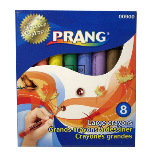 "Prang's oversized crayon for children 3 or older, or anyone having difficulty gripping a smaller crayon. Ideal for children's art, and some fine art purposes. Round 4"" x 7/16""."