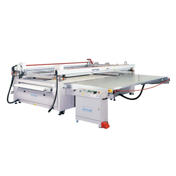 <p><h3>ATMAX JUMBO 4 POST SCREEN PRINTER</h3> All ATMA presses are built to the highest standards, assured by ISO9001 certification. The table is made from aero quality aluminum with a honey comb interior that is strong and light weight. It is driven by the highest quality German &#34;SEW&#34; motor on linear bearing rails with shock free speed control. This assures smooth, quiet running with a minimum of wear and accurate stop positioning. The take off on the &#34;G Type&#34; features a side out, reversible conveyer system. The variable speed conveyer&#39;s vacuum system holds sheets until dropped onto the dryer. Grippers adapt from 0-6mm and has a release dwell time control.</p>