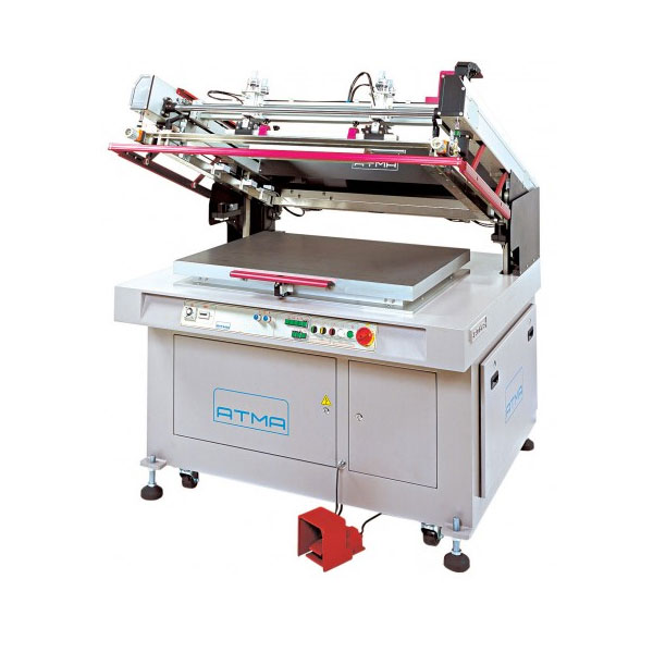 <p><h3>ATMECH Clam Shell Screen Press</h3>The ATMECH Screen Printer features Elegant Design, an excellent ATMA technology scintillating outstanding elegancy over logical high-performance design, close tolerance quick-reactive electro-mechanical transmission system for clam-shell action can suffice super high-precision job requirements.  Top Quality: ISO 9002 certified quality-assurance system, plus &#34;Symbol of Excellence&#34; awarded, assures top quality finish.<br><br>Application: For flat-surfaced screen-printing on Film, Sheet, Board form substrates made of deforming materials, like Mylars, Posters, Stickers, Membrane Switches, Name Plates, Sign Boards, Printed Circuit Boards etc.</p>