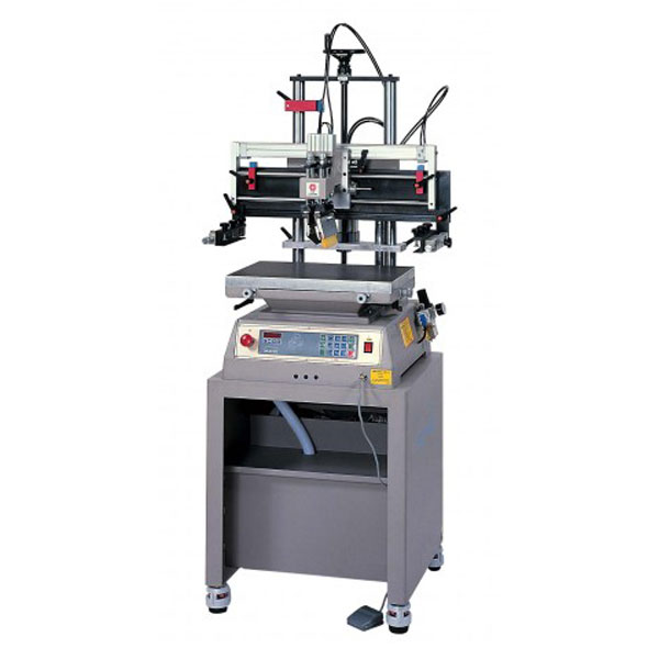 <p>The Mini Press is a two post press with vertical lift that prevents ink flow off. It features an open front for quick and easy set up.This press is suitable for printing on 3 dimensional flat rigid substrates up to 5.9&#34; high. Micro-computer control feature selections, single-actions, digital setting and display, light/beeper indications etc. functions.  ISO-9001 & 14001 Certified quality featuring unique vertical screen up/down design, solid and light-weighted structure, compact size, user friendly operations and functions, a Top-quality choice of its price level in the market.</p>
