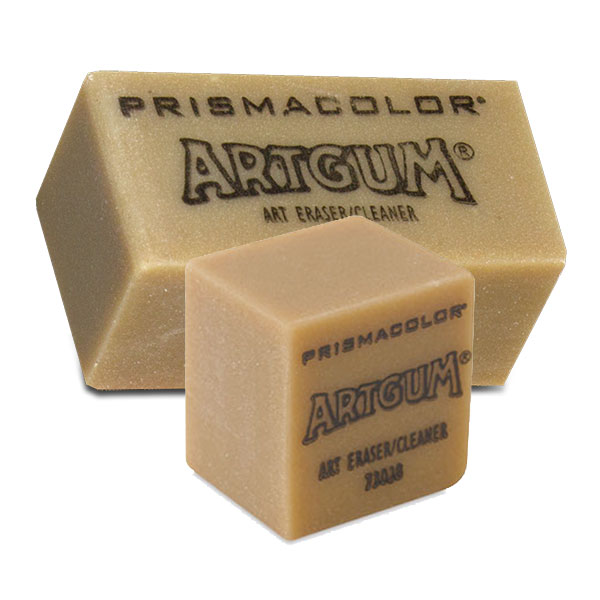 Artgum erasers dry, clean, and erase with a unique formula of crepe rubber and factice oil. Abrasion creates fine powder that cleans deep. For cleaning paper, erasing pencil marks, etc. Will not damage the paper surface.
