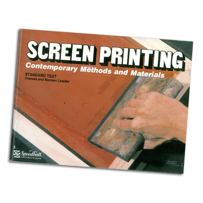 This Speedball text book is a standard text on the subject  of screen printing that completely and objectively covers   the various stencil techniques in light of recent           technological advances in materials and procedures from cut paper stencils to halftone stencils including               photo/posterization. This is a book that was written and    designed to be understandable, instructional and            motivational to the novice as well as relevant, informative and insightful to the skilled professional. By Frances &    Norman Lassiter.