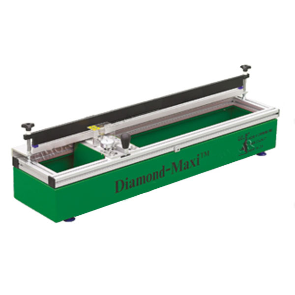 "Serilor MAXI is a precision medium format sharpener for squeegees 38""(97cm) or less. This portable table-top design  fits anywhere and comes equipped with two industrial strength diamond sharpening wheels"