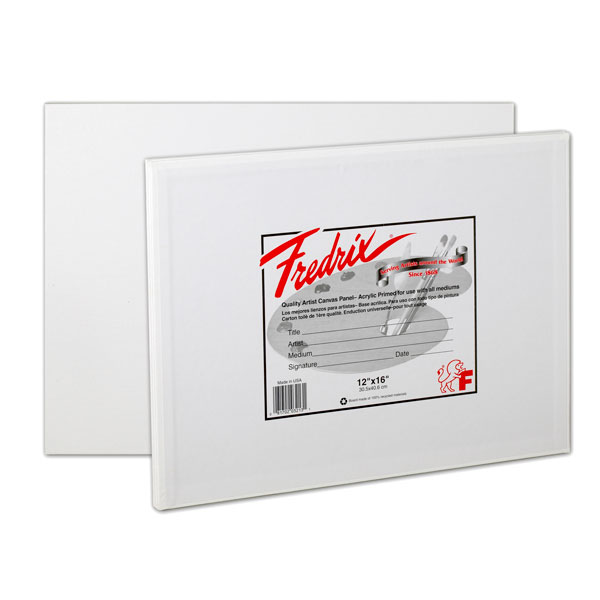 "<p>Fredrix Canvas Panels are great for students. The surface  texture provides a very definite paint-gripping ""tooth"" with minimum paint absorption, a perfect support for painting in all media. The sides are completely turned under and glued to prevent fraying and separation. The entire area of canvas  is firmly glued to the board. The sizing is acid free.  Sold in packages of three in 16x20"" and smaller, and in packages of two in 18x24"" and larger.</p>"