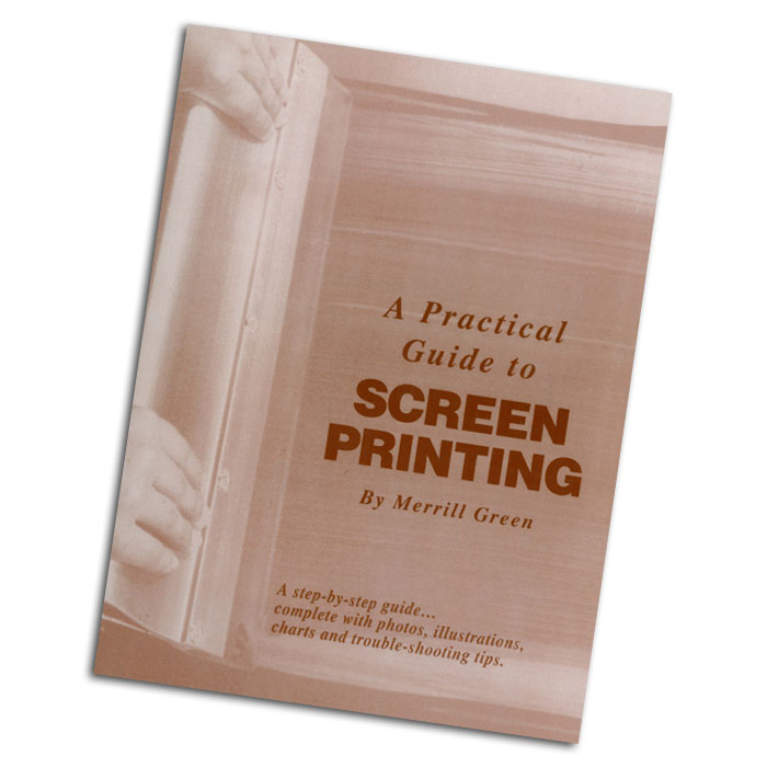 A clear and simple instructional document on the methods of screen printing. Presented in an elaborate step-by-step     guide, complete with photos, illustrations, charts and      trouble-shooting tips. Written by Merrill Green.