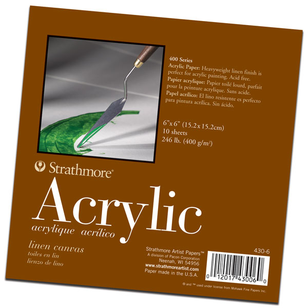 A heavy weight paper witn a linen finish that is perfect for acrylic painting. 10  sheets per pad.