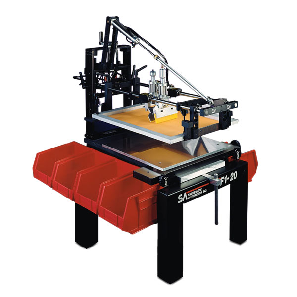 <p>Brilliantly simple and extremely reliable, the Model               F1 is a fast, cycles up to 2,500 IPH, printer that is ideal for nearly               all flat and cylindrical screen printing applications. The clamshell               style offers easy part access for quick loading and unloading of               parts. The pneumatic air operation cannot overload or burnout.<br>               The simplicity of the Model F1 makes it an ideal press for start               up operations and the F1&apos;s versatility, by making use of modular               accessories, means this press will continue to be a shop workhorse               for many, many jobs to come.<br>               The Model F1 Semi-Automatic Screen Printer is our most popular               machine, with hundreds of installations worldwide. </p>