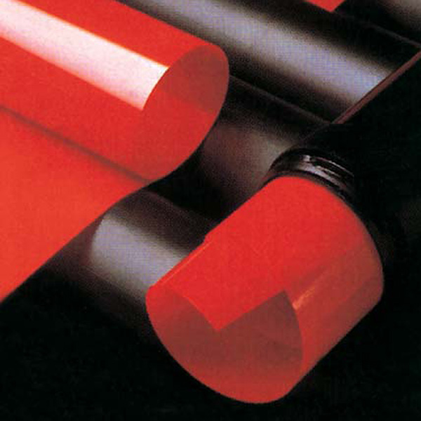 A dark red film with a thick emulsion on a 2-mil optically flat polyester backing. Produces a thick stencil that adheres well to all meshs, yet has extremely high resolution and definition and wide exposure latitude. Thin topcoat for use with automatic developing machines. Ideal for fine line and halftone work and a wide range of electronic printing applications, especially solder mask. Resolution: 50 - 75 microns.