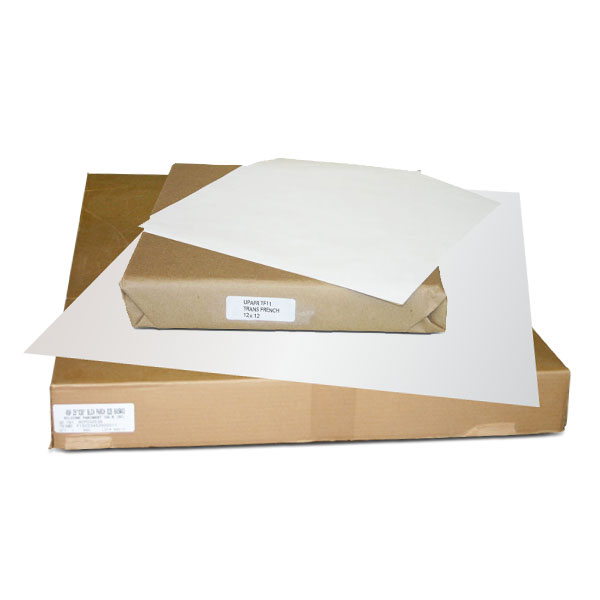 A non-parchment white sheet that is the most heat stable transfer sheet available. Works well with multi-color designs with minimal paper shrinkage. Excellent for screen printing or lithography for cold peel transfers. Priced by the 500 sheet ream.